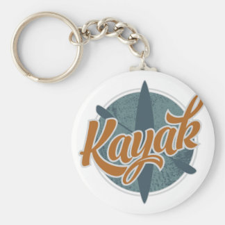 Kayak Emblem Basic Round Button Key Ring