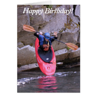 Kayak-er taking the plunge Birthday card