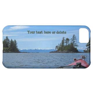 Kayak facing the Alaskan Mountain Range iPhone 5C Cover