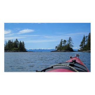 Kayak facing the Alaskan Mountain Range Pack Of Standard Business Cards