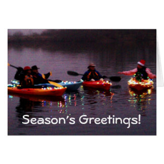 Kayak Flotilla of Lights! Cards