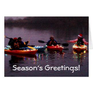 Kayak Flotilla of Lights Cards