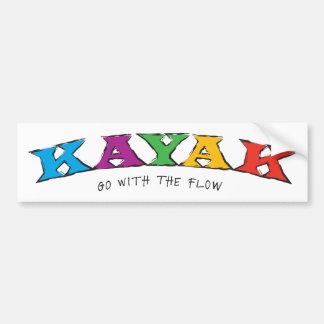 Kayak... Go With The Flow Sticker Bumper Sticker