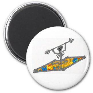 Kayak Hippie Bones Magnet