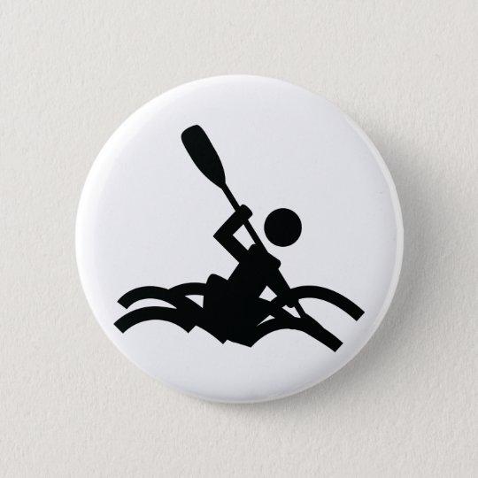 kayak icon 6 cm round badge
