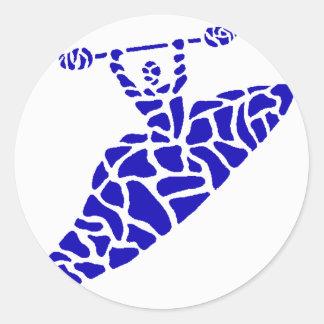 Kayak Kaintuck Waters Round Sticker