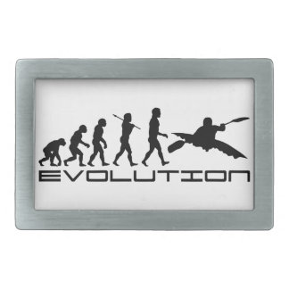 Kayak Kayaking Water Sport Evolution Art Belt Buckle
