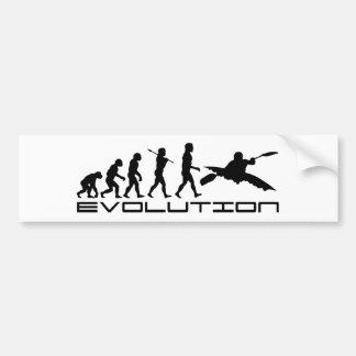 Kayak Kayaking Water Sport Evolution Art Bumper Sticker