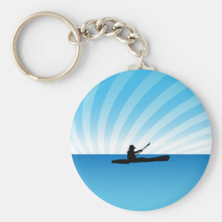 Kayak Man Key Ring