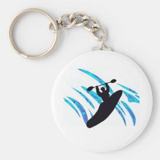 Kayak May We Basic Round Button Key Ring