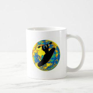 Kayak moon time coffee mugs