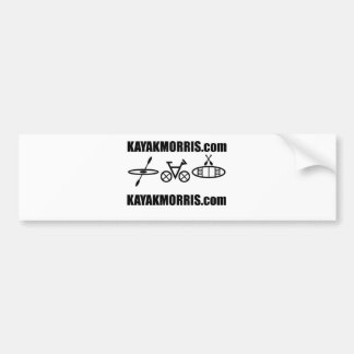 kayak morris bike canoe illinois bumper sticker
