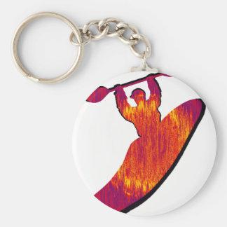 Kayak Nebulae Rising Basic Round Button Key Ring