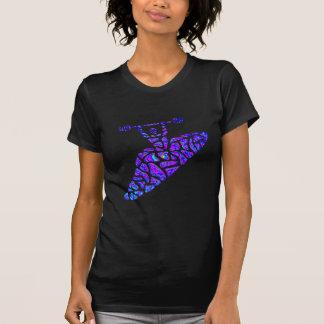Kayak Nebulae Stars T-shirt