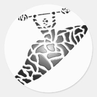 Kayak new Grid Round Sticker