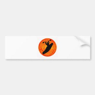 Kayak Noon Sun Bumper Sticker