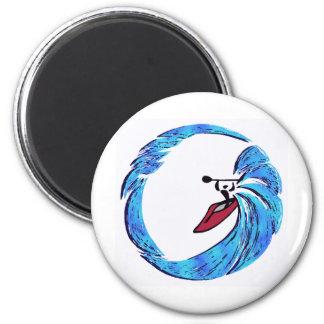 kayak Oahu dreams 6 Cm Round Magnet