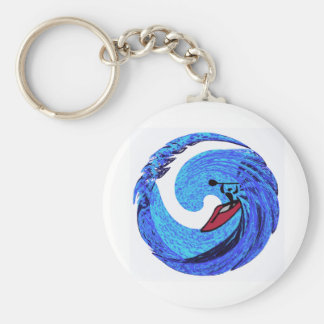 kayak off kaui basic round button key ring