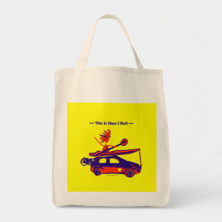 Kayak On Car - This is how I roll! Canvas Bag
