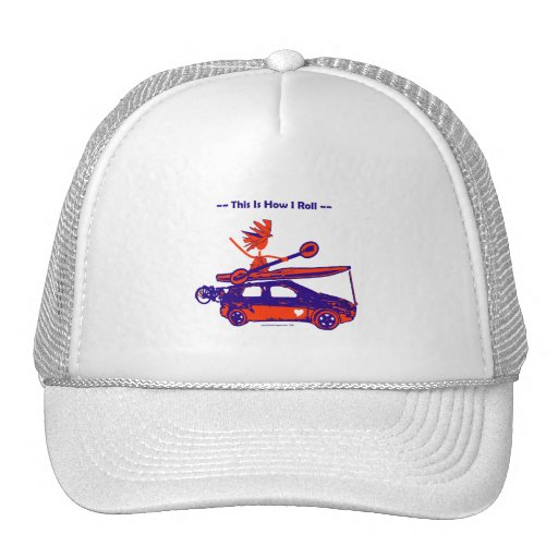 Kayak On Car - This is how I roll! Mesh Hat