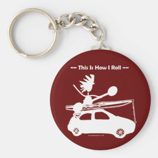 Kayak On Car - This is how I roll! Key Ring