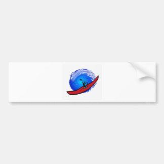 kayak open seas car bumper sticker