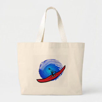kayak open seas jumbo tote bag