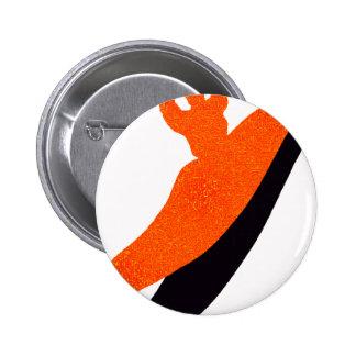 Kayak orange blaster pinback buttons