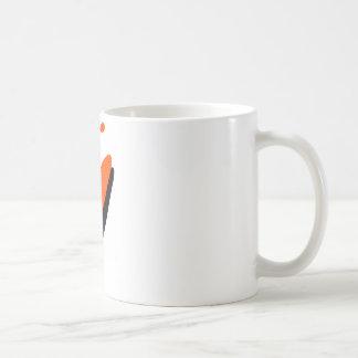 Kayak orange blaster basic white mug