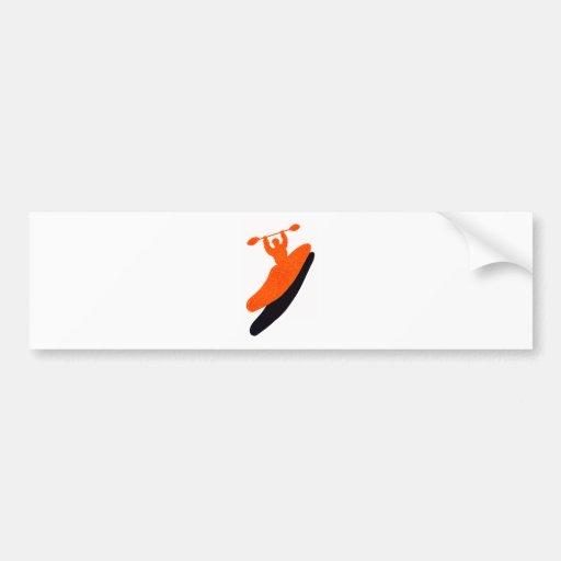 Kayak orange blaster bumper sticker