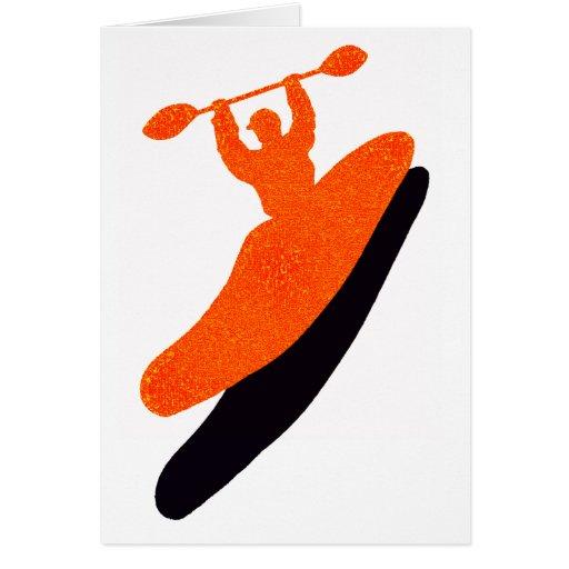 Kayak orange blaster cards