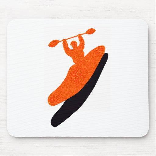 Kayak orange blaster mousepads