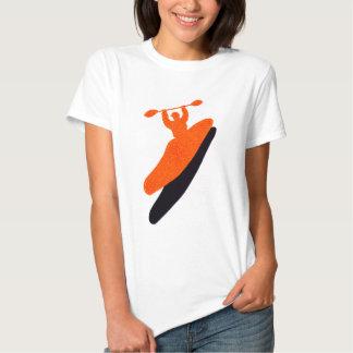 Kayak orange blaster shirt