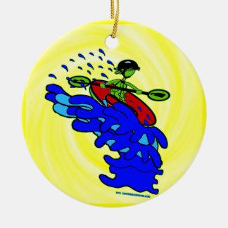 Kayak Over Waterfall Shirts & Things Christmas Ornament
