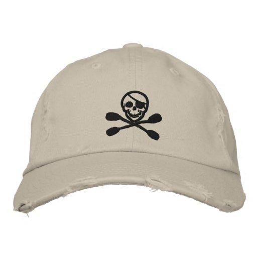 Kayak Paddle Pirate Cap Embroidered Baseball Caps