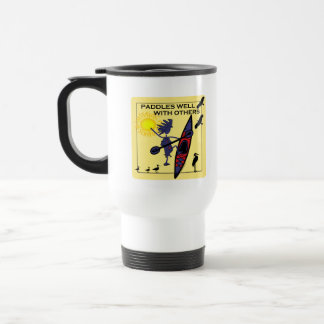 Kayak Paddles Well on Yellow Travel Mug