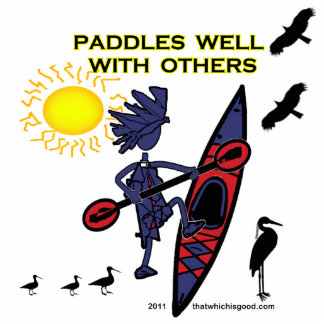 Kayak Paddles Well With Others II Photo Sculpture Decoration