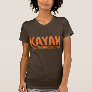 Kayak Palindrome Shirts