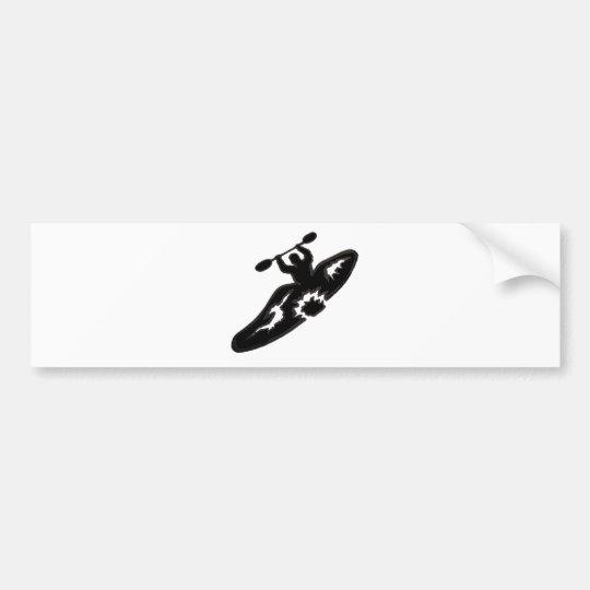 Kayak peace bumper sticker