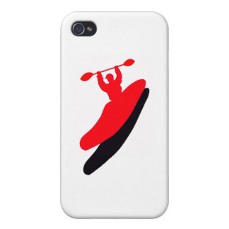 Kayak Red Zonezzzzzzzz iPhone 4/4S Cases