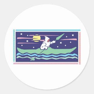 kayak round stickers