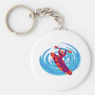 kayak savage waves basic round button key ring