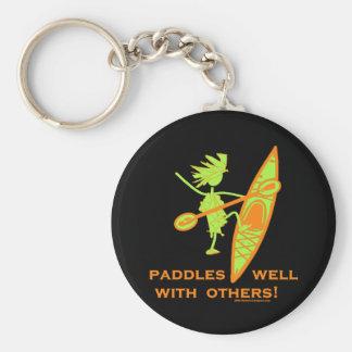 Kayak Shirt, Kayak Gift, Bumper Sticker and more! Basic Round Button Key Ring