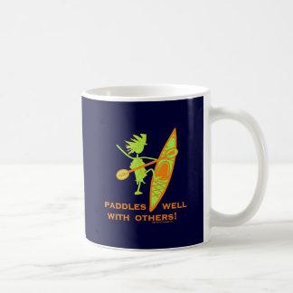 Kayak Shirt, Kayak Gift, Bumper Sticker and more! Basic White Mug