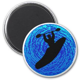 Kayak Soulful Flows 6 Cm Round Magnet