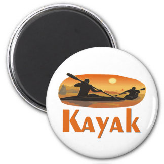 Kayak T-shirts and Gifts. 6 Cm Round Magnet