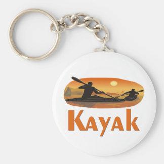 Kayak T-shirts and Gifts. Basic Round Button Key Ring