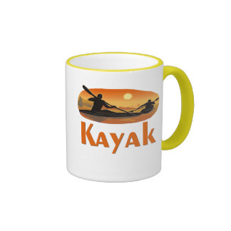 Kayak T-shirts and Gifts. Ringer Mug