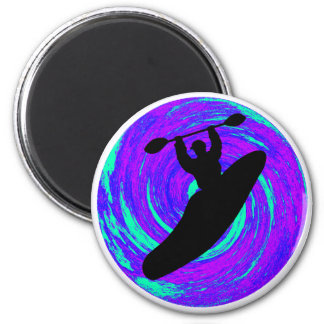 Kayak The circle 6 Cm Round Magnet