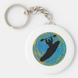 Kayak the Exploration Basic Round Button Key Ring